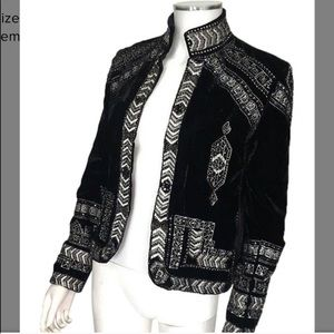 Black Velvet Beaded Jacket!!!